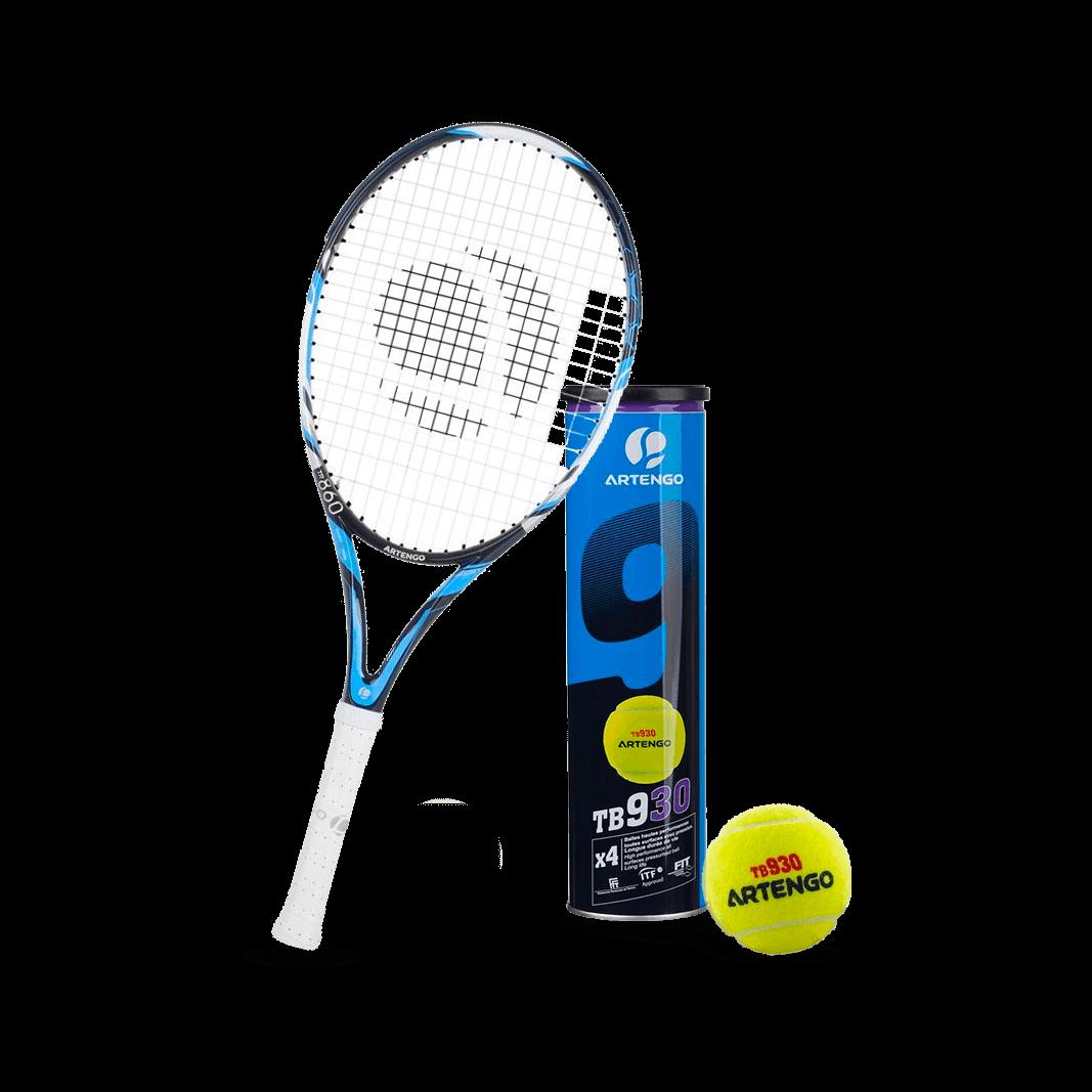 Raquettes de tennis d 39 occasion trocathlon - Raquette de tennis de table decathlon ...